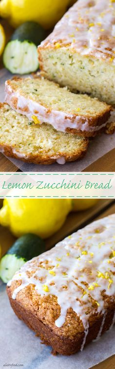 This simple zucchini bread recipe has a lemon twist to it, making it the perfect quick bread for spring and summer!