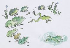 Ten Frogs from Ten Frogs by Quentin Blake