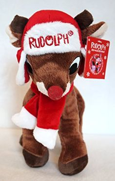 2013 Rudolph the Red Nosed Reindeer Xmas Plush Doll w/Hat & Scarf NWT