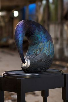 Sculptor Kate MccGwire creates amazing works using feathers, and other materials such as 'wishbones' from numerous birds.