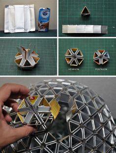 diy folded paper lamp