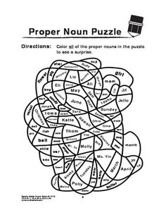 Free - Proper Nouns-Second Grade. English Language arts.