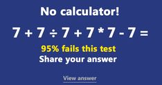 Can you solve this basic Math test?