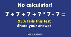 Can you solve this basic Math test? Mind Test, Maths Solutions, Basic Math, Brain Teasers, Math Games, Mind Blown, Problem Solving, Trivia, Fails