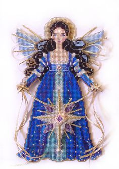 Brooke's Books Spirit of the Christmas Star Angel Ornament Cross Stitch Chart Only