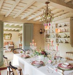 Most Design Shabby Chic Interior Design – Design House Decor Cottage Shabby Chic, Shabby Chic Dining, Shabby Chic Interiors, Cottage Interiors, Cozy Cottage, Shabby Chic Homes, Shabby Chic Decor, Cottage Style, Cottage Farmhouse
