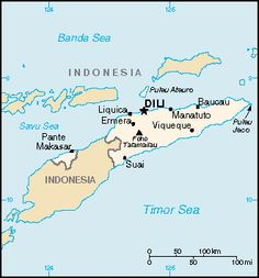 Dive Map of East Timor