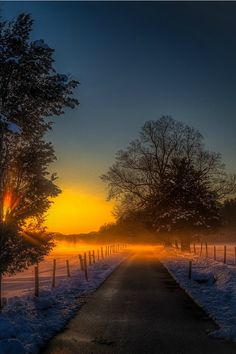 In The Moment | sea-passion:   Smoky Snowy Misty Sunset by Frank...
