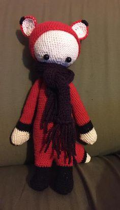 FIBI the fox made by Sylvia H. / crochet pattern by lalylala