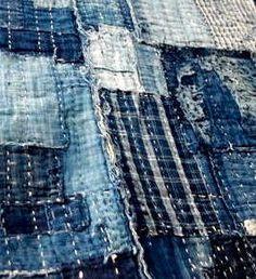 Japanese, Antique Folk Textiles, Japanese Vintage Fabrics, Boro ...