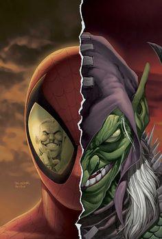 Spiderman / Green Goblin by Salvador Larroca Ms Marvel, Marvel Comics, Comics Spiderman, Marvel Villains, Marvel Heroes, Hero Spiderman, Marvel Comic Character, Comic Book Characters, Marvel Characters