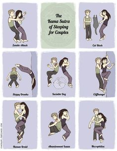 The Karma Sutra of sleeping for couples.