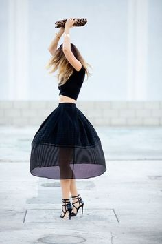 Wear a midsummer midi skirt.