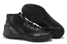 43759e4eff35 2016 Under Armour Curry 3 SC Mens Basketball Shoes All Black Discount