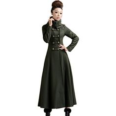 Black Gothic Trench Long Coat S M Corset Matrix Steampunk ...