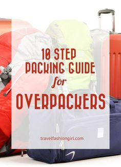 10 Step Packing Guide to Stop Overpacking Are you a chronic overpacker? Not anymore! Join thousands of other female travelers and read our pro travel tips and pack right for every trip! Travelling Tips, Packing Tips For Travel, Travel Essentials, Travel Hacks, Packing Lists, Travel Ideas, Packing Hacks, Packing Ideas, Europe Packing