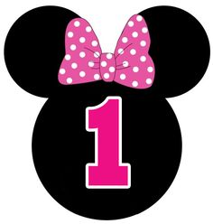 Number one ♥ Minnie Mouse Mimi Y Mickey, Mickey E Minnie Mouse, Theme Mickey, Minnie Mouse Birthday Decorations, Minnie Mouse Theme Party, Minnie Mouse First Birthday, Cupcakes Mickey, Mickey Mouse Silhouette, Disney Parties