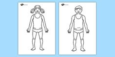 Body Template Worksheet - Hospital Role Play, hospital