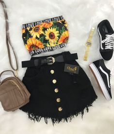 casual outfits with vans Girls Fashion Clothes, Teen Fashion Outfits, Swag Outfits, Cute Fashion, Girl Outfits, Sport Fashion, Fashion Black, Trendy Fashion, Fashion Fashion