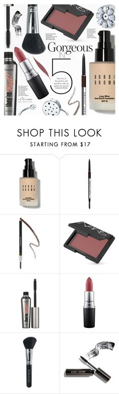 """""""Gorgeous In 5 Steps"""" by totwoo ❤ liked on Polyvore featuring beauty, Bobbi Brown Cosmetics, Marc Jacobs, Givenchy, NARS Cosmetics, Benefit, MAC Cosmetics, Isadora and Clé de Peau Beauté"""