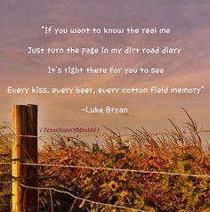 Dirt Road Diary- Luke Bryan