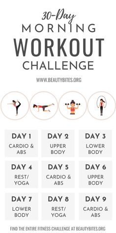 Easy Morning Workout, Morning Ab Workouts, Morning Workout Routine, Gym Routine, Mini Workouts, Body Workouts, Cheer Workouts, Workout Exercises, Cardio Abs