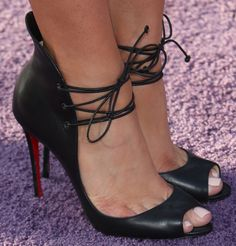 b62d048c2507 Emily Osment in Christian Louboutin  Megavamp  lace-up pumps. Your Next  Shoes