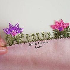 Hem Güzel Hem Kolay 24 İğne Oyası Yazma Kenarı Modelleri Beaded Embroidery, Embroidery Stitches, Hand Embroidery, Hand Applique, Applique Quilts, Needle Lace, Bobbin Lace, Baby Knitting Patterns, Crochet Patterns