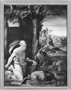 Muziano Girolamo - San Girolamo penitente  - 1550-1570 -  Accademia Carrara di Bergamo Pinacoteca