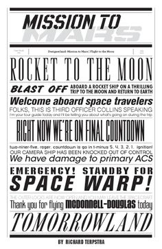 Mission To Mars Typography by Richard Terpstra. Would be sooo cute as a background paper in a scrapbook! Disney Font Free, Disney Love, Disney Magic, Disney Art, Walt Disney World, Disney Fonts, Disney Typography, Disney Stuff, Disney Printables