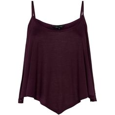 Burgundy Swing Jersey Cami (19 BRL) ❤ liked on Polyvore featuring tops, tanks / cami's, strappy tank top, purple tank top, purple jersey, strappy cami and purple camisole