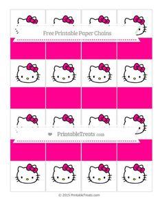 Free Magenta  Hello Kitty Paper Chains
