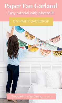 How to Make Paper Fan Party Decorations Paper Fan Garland tutorial with pictures! Easy to make DIY party backdrop photo booth backdrop birthday party idea etc! The post How to Make Paper Fan Party Decorations appeared first on Paper Diy. Paper Party Decorations, Diy Birthday Decorations, Diy Birthday Backdrop, Office Party Decorations, Birthday Garland, Party Kulissen, Ideas Party, Diy Party Fans, Diy Ideas