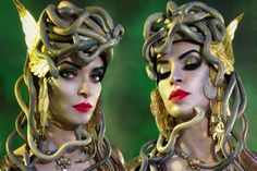 Medusa Make-Up and Hairstyle transformation