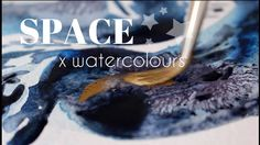 Black x GOLD INK x Watercolours Study