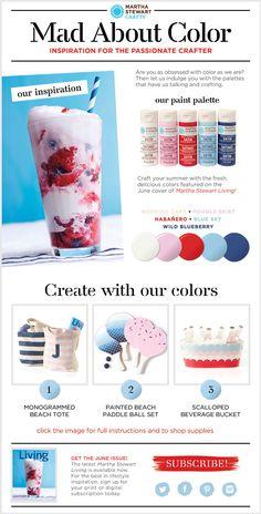 Martha Stewart Crafts® Mad About Color: June 2014