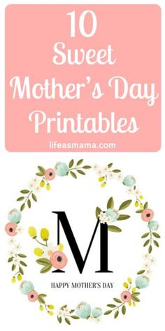 It's not too late to give your mom a beautiful Mother's Day gift, and why not one of these pretty printables? Print and put in a frame for a unique and thoughtful gift!