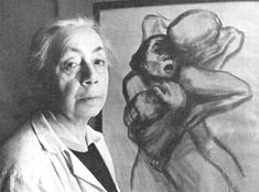 """Kathe Kollwitz. """"While I drew, and wept along with the terrified children I was drawing, I really felt the burden I am bearing. I felt that I have no right to withdraw from the responsibility of being an advocate."""""""