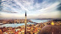 Bulutta şaha kalkmış Fatih`ten kalma kır at; Pırlantadan kubbeler, belki bir milyar kırat… Şahadet parmağıdır göğe doğru minare; Her nakışta o mana: Öleceğiz ne çare?.. / Necip Fazıl Kısakürek Ottoman Empire, Burj Khalifa, Cn Tower, Middle East, Istanbul, Building, Gifts, Travel, Design