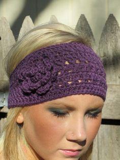 Crochet Head Wrap  Mulberry Boho Style $14