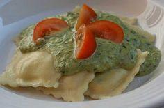 V e g a n D a d: Ravioli with Pesto Cream
