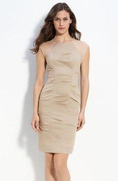 Nicole Miller Woven Pintuck Sheath Dress   Nordstrom - StyleSays