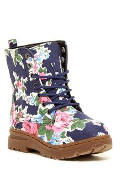 Carrini Floral Combat Boot (Toddler, Little Kid, & Big Kid)