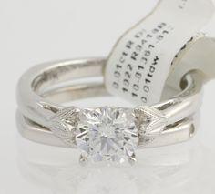 NEW Valina Wedding Ring Set - 14k White Gold Engagement .07ctw Flower Fine #Valina