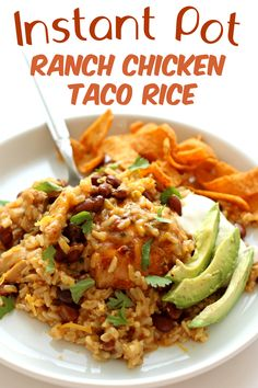 Instant Pot Ranch Chicken Taco Rice - 365 Days of Slow Cooking and Pressure Cooking - 365 Days of Slow Cooking and Pressure Cooking – Easy slow cooker and Instant Pot recipes for each day of the year - Instant Pot Pressure Cooker, Pressure Cooker Recipes, Pressure Cooking, Slow Cooking, Cooking Recipes, Crockpot Recipes, Instant Cooker, Kid Recipes, Family Recipes