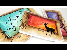 One Layer Stamping and Painting - YouTube. I love this idea but what are those birds carrying? Either cannonballs or babies. Really like the brown around the borders