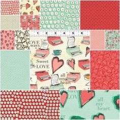 All My Heart Fat Quarter Bundle - at Hawthorne Threads, love this collection!  (I really like Valentine's Day prints).