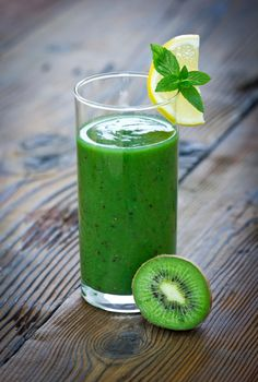 Kiwi Spinach #Smoothie    Ingredients:  2 kiwi, peeled  1/2 banana  1 C. spinach  1/2 C. vanilla yogurt  2 Tbs. ground flax seed  1/2 C. apple juice  10 ice cubes    Directions:  Combine all ingredients in a blender and blend until smooth.