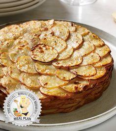 Healthy Thanksgiving Potato Gratin with Herbs http://BikiniBodyMommy.com/Meal-Plan