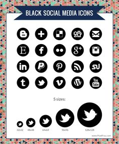 i only downloaded the icons on my computer  Free Black Social Media Icons | Pixel Frau